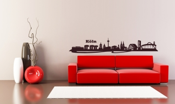k lner skyline modern wandtattoo. Black Bedroom Furniture Sets. Home Design Ideas