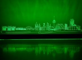 Leuchtende Köln-Skyline (LED)